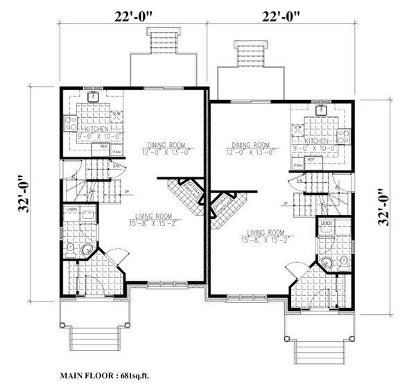 House Plan Design - Traditional Floor Plan - Main Floor Plan #138-350