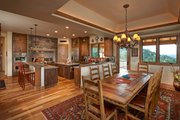 Log Style House Plan - 3 Beds 3.5 Baths 4100 Sq/Ft Plan #942-43 Interior - Kitchen