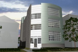 Contemporary Exterior - Front Elevation Plan #535-21