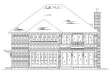 European Exterior - Rear Elevation Plan #5-373