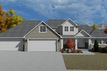 Traditional Exterior - Front Elevation Plan #1060-62