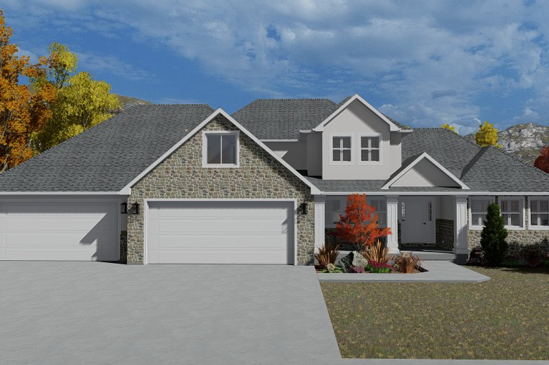 Dream House Plan - Traditional Exterior - Front Elevation Plan #1060-62