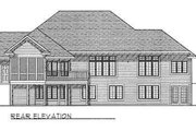 Traditional Style House Plan - 2 Beds 2 Baths 2200 Sq/Ft Plan #70-342 Exterior - Rear Elevation
