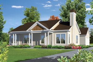 Ranch Exterior - Front Elevation Plan #57-638