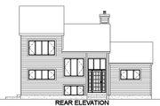 House Plan - 3 Beds 2.5 Baths 1705 Sq/Ft Plan #25-2282 Exterior - Rear Elevation