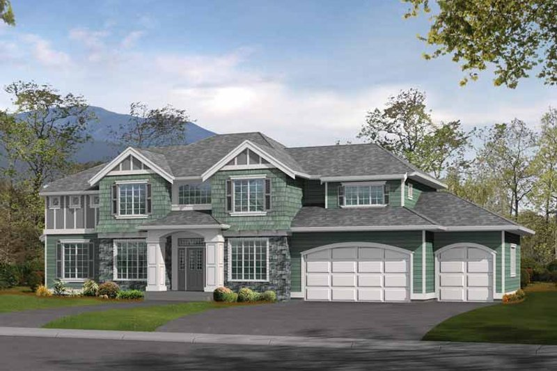 Craftsman Exterior - Front Elevation Plan #132-324