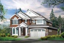 Architectural House Design - Craftsman Exterior - Front Elevation Plan #132-268