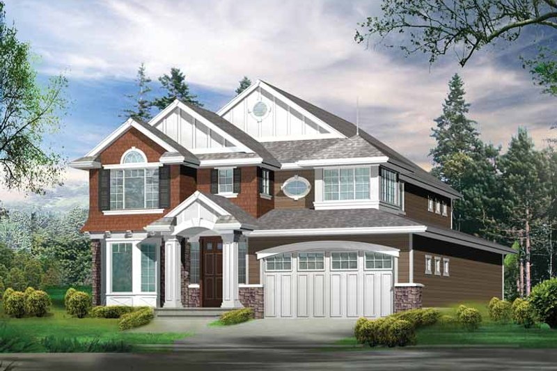 Craftsman Exterior - Front Elevation Plan #132-268