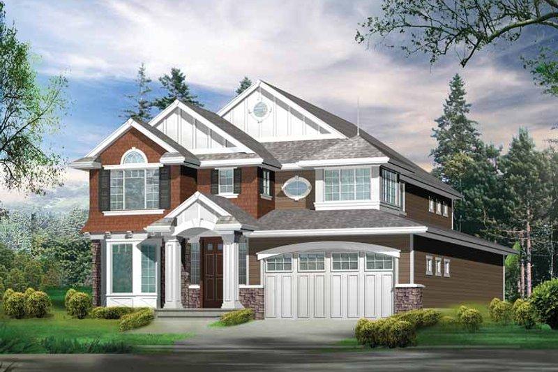 Craftsman Exterior - Front Elevation Plan #132-268