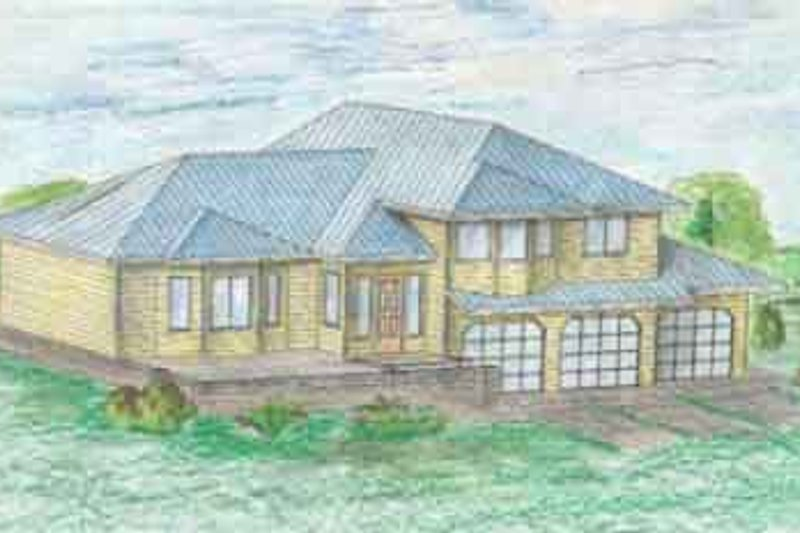 Traditional Exterior - Front Elevation Plan #117-225 - Houseplans.com
