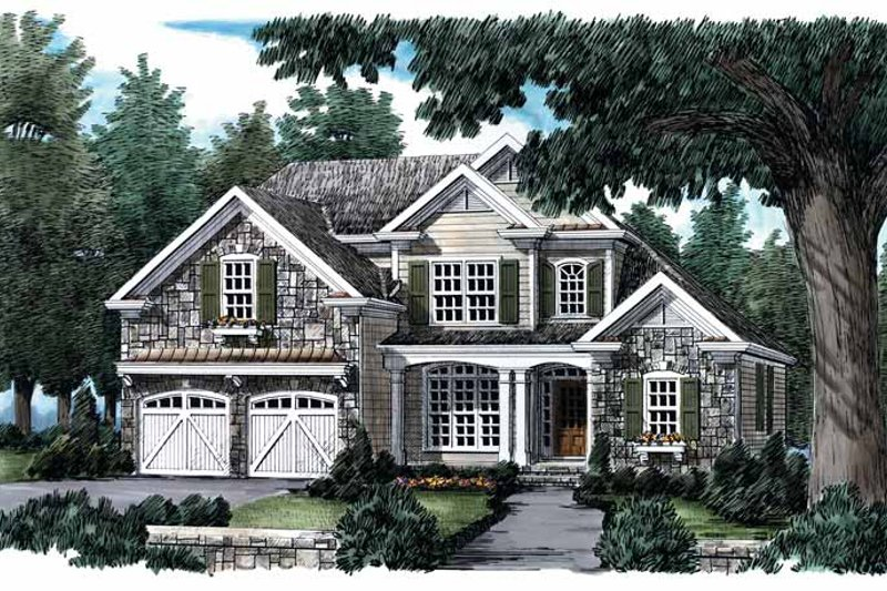 Country Exterior - Front Elevation Plan #927-650