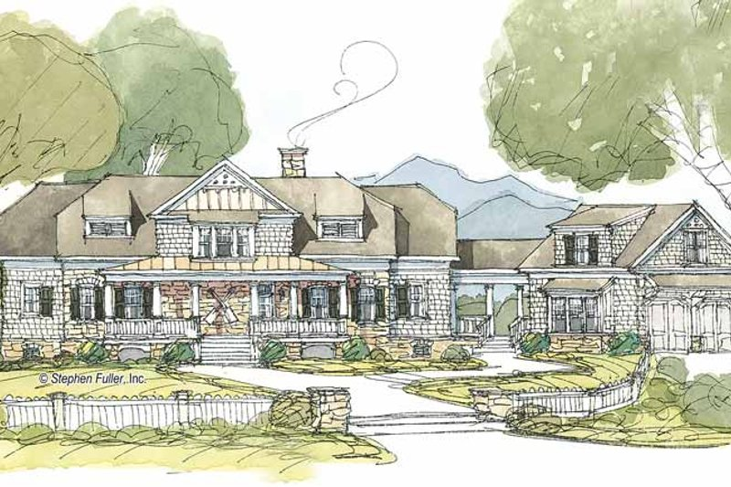 Country Exterior - Front Elevation Plan #429-388 - Houseplans.com
