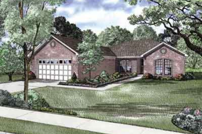 Home Plan - Traditional Exterior - Front Elevation Plan #17-2247