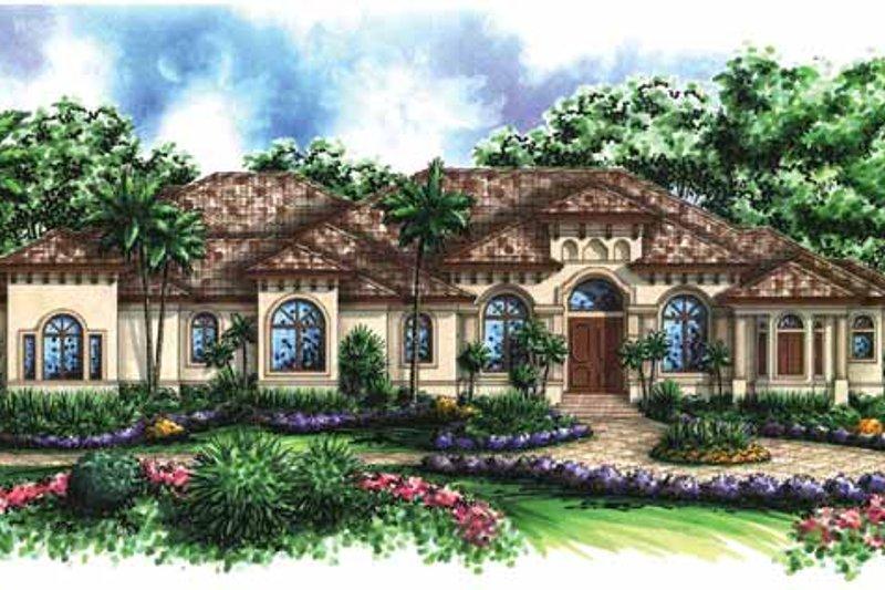Dream House Plan - Mediterranean Exterior - Front Elevation Plan #1017-31