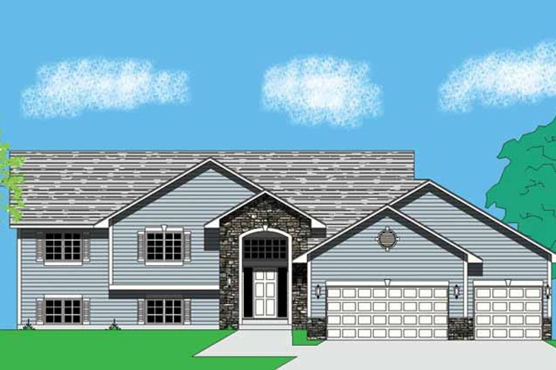 Traditional Exterior - Front Elevation Plan #981-1
