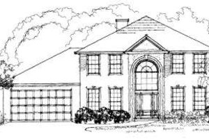 European Exterior - Front Elevation Plan #325-109