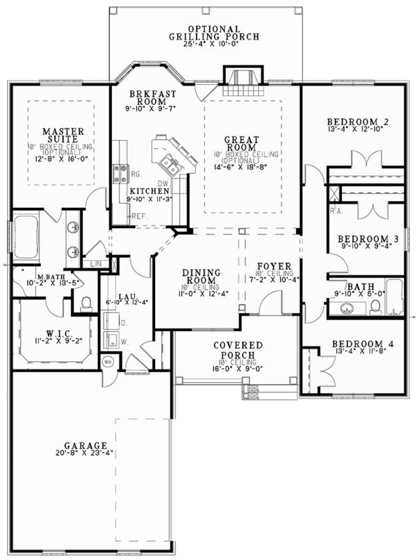 Dream House Plan - Traditional Floor Plan - Main Floor Plan #17-2887