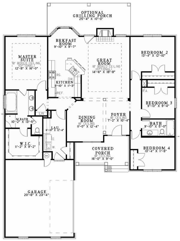Architectural House Design - Traditional Floor Plan - Main Floor Plan #17-2887