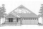 Cottage Style House Plan - 3 Beds 2 Baths 1371 Sq/Ft Plan #53-386 Exterior - Front Elevation