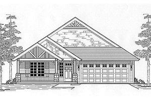 Cottage Exterior - Front Elevation Plan #53-386