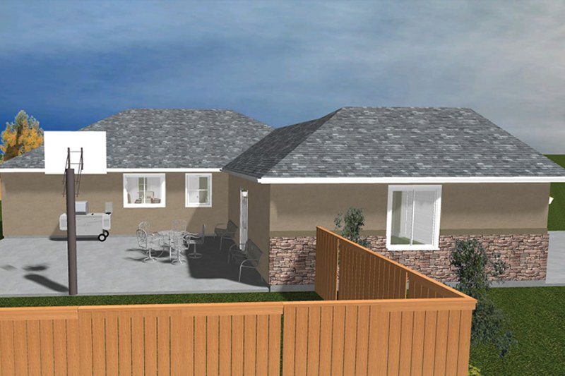 Ranch Exterior - Other Elevation Plan #1060-22 - Houseplans.com