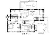 Modern Style House Plan - 2 Beds 1 Baths 1200 Sq/Ft Plan #23-2676 Floor Plan - Main Floor Plan
