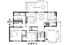 Modern Floor Plan - Main Floor Plan Plan #23-2676