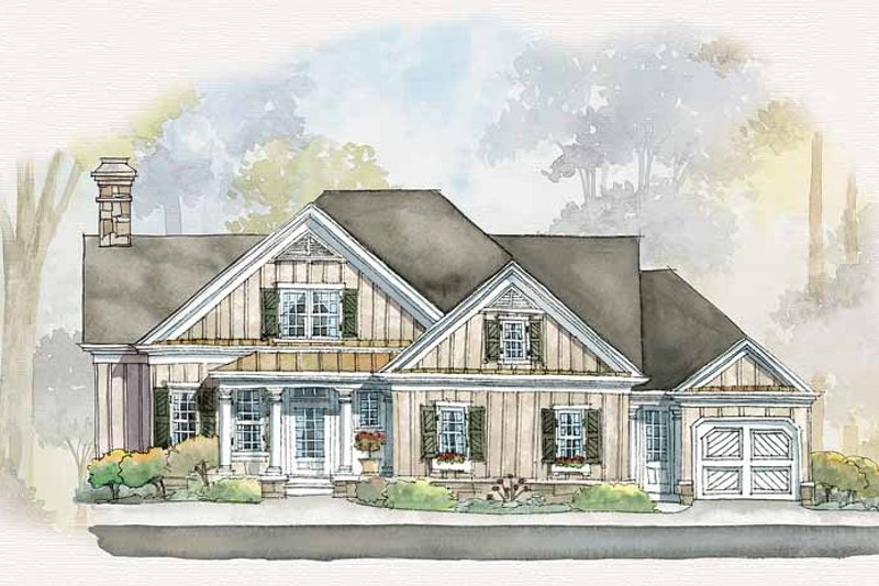 House Plan Design - Country Exterior - Front Elevation Plan #429-261