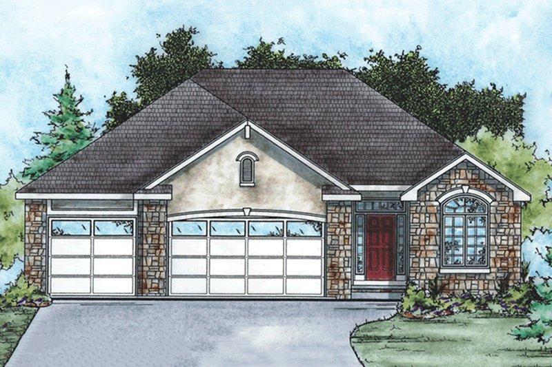 Ranch Exterior - Front Elevation Plan #20-1869 - Houseplans.com