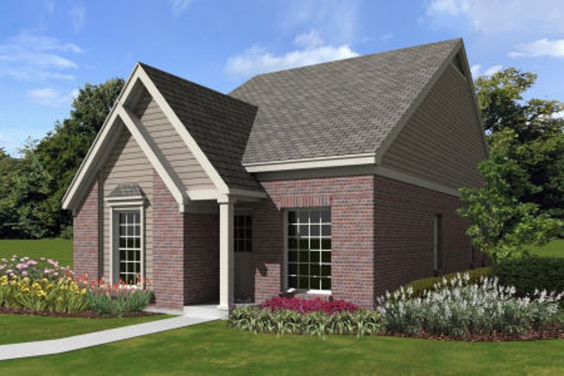 Cottage Style House Plan - 3 Beds 2 Baths 1185 Sq/Ft Plan #81-13864 Exterior - Front Elevation