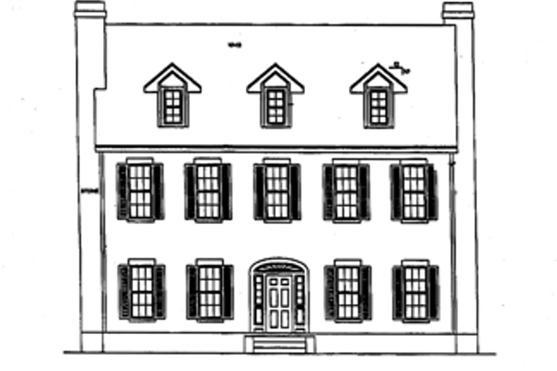 Classical Exterior - Front Elevation Plan #472-359 - Houseplans.com