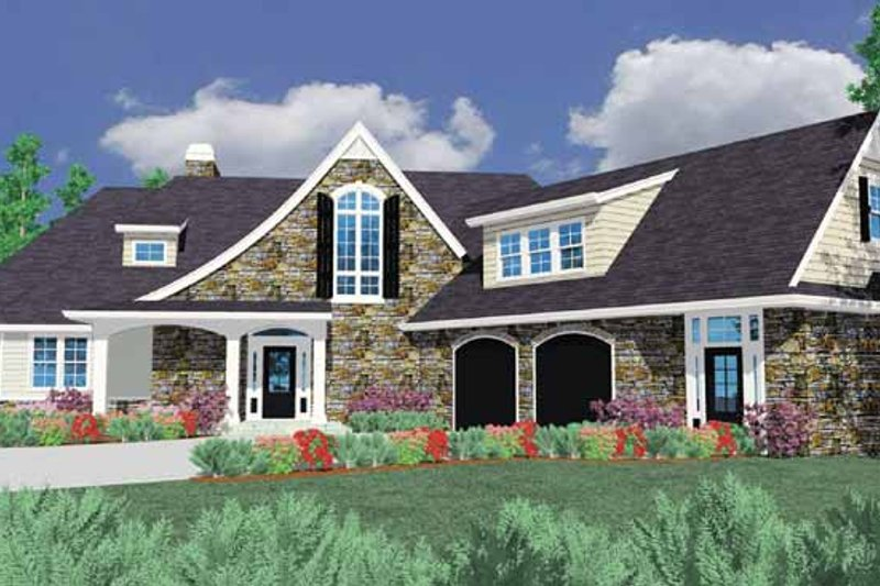 Country Exterior - Front Elevation Plan #509-379