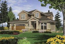 Craftsman Exterior - Front Elevation Plan #48-858