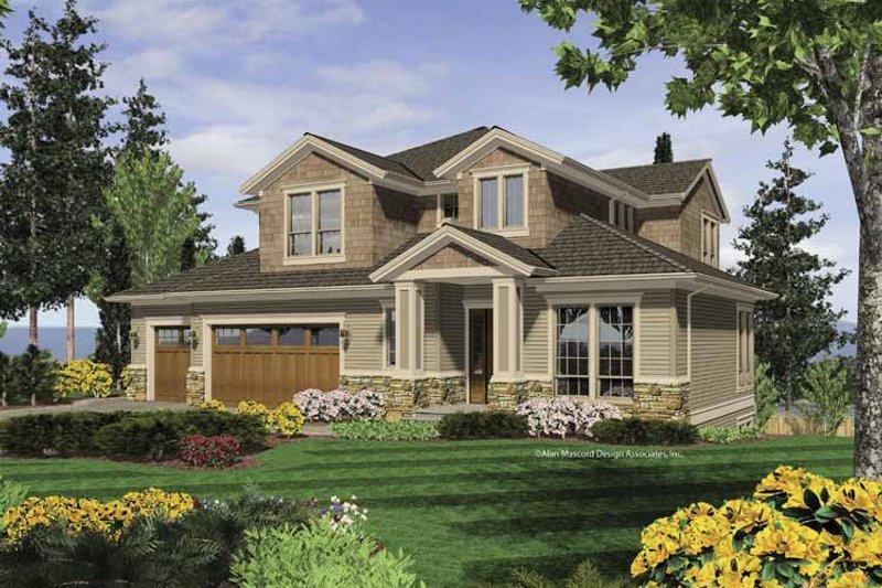 Home Plan - Craftsman Exterior - Front Elevation Plan #48-858