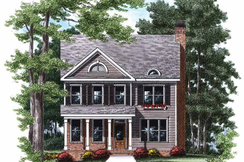 Colonial Exterior - Front Elevation Plan #927-757