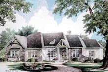 House Plan Design - Country Exterior - Front Elevation Plan #952-273