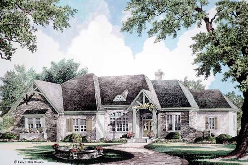 Dream House Plan - Country Exterior - Front Elevation Plan #952-273