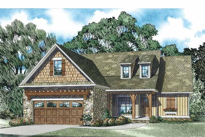 Country Exterior - Front Elevation Plan #17-3355 - Houseplans.com