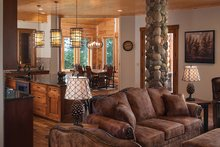 Log Interior - Family Room Plan #928-263