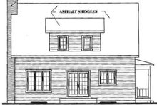 Home Plan - Traditional Exterior - Rear Elevation Plan #23-222