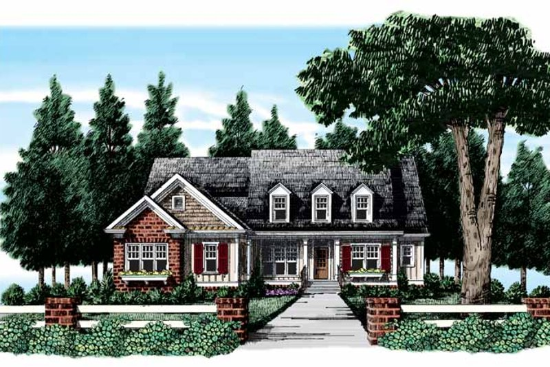 Country Exterior - Front Elevation Plan #927-306