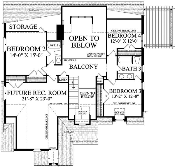 Cottage Floor Plan - Upper Floor Plan Plan #137-289