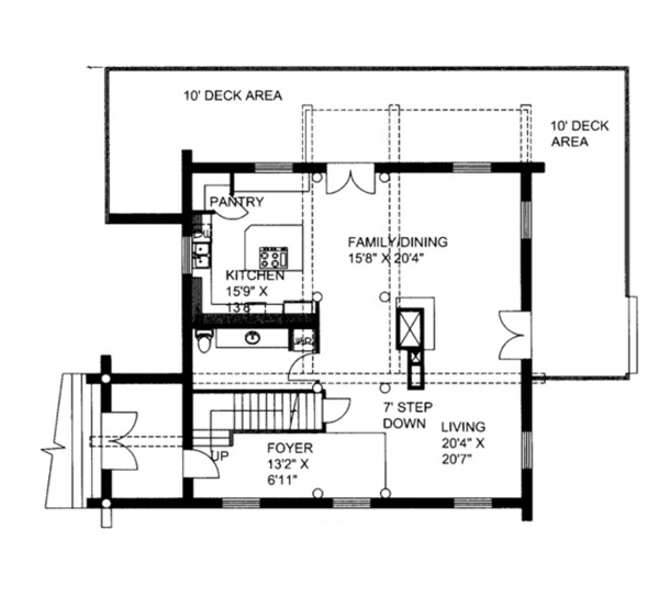 Log Floor Plan - Main Floor Plan Plan #117-825