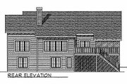 Traditional Style House Plan - 3 Beds 2.5 Baths 2518 Sq/Ft Plan #70-135 Exterior - Rear Elevation