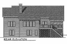 House Plan Design - Traditional Exterior - Rear Elevation Plan #70-135