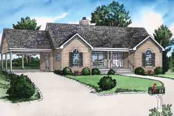 Traditional Exterior - Front Elevation Plan #16-253