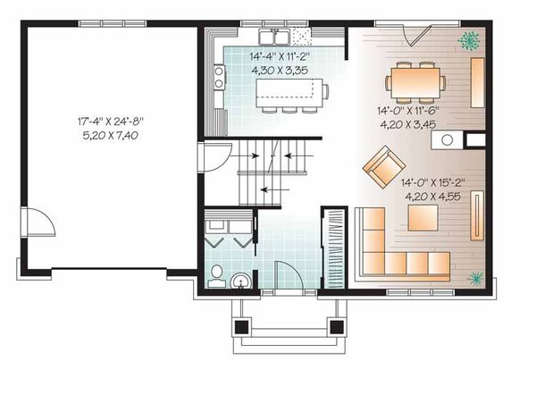 House Plan Design - Traditional Floor Plan - Main Floor Plan #23-2506