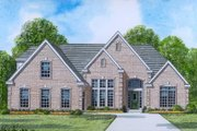 European Style House Plan - 3 Beds 2 Baths 2257 Sq/Ft Plan #424-28 Exterior - Front Elevation