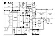 Mediterranean Floor Plan - Main Floor Plan Plan #1058-85