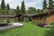 Contemporary Style House Plan - 3 Beds 2.5 Baths 3278 Sq/Ft Plan #48-699 Exterior - Front Elevation